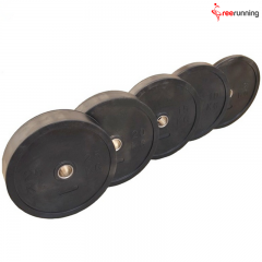 Black Natural Rubber Bumper Plate Exercises